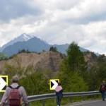 Erto(PN)-verso l'arrivo della tappa del giro d'Ita