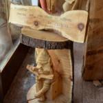 Mauro Corona_opera in legno_Ecomuseo Vajont di Ert