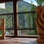 Mauro Corona_opera in legno_Ecomuseo Vajont_Erto