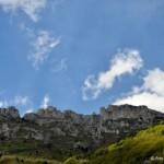 Erto(PN)- panorama tra montagne, cielo e nuvole