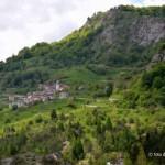 Casso (PN)-il paese visto da Erto (PN)
