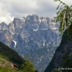 Erto(PN)-vista sulla Dolomiti friulane