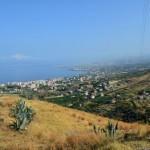 Reggio Calabria: panorama dalle colline di Pellaro